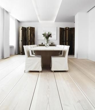 Dinesen Wooden Floors offers beautiful wide floor boards similar to the flooring in Julian King's project.