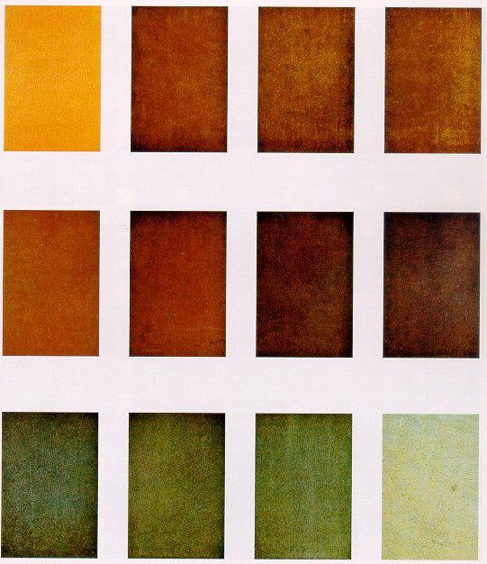 Set di colori del rame