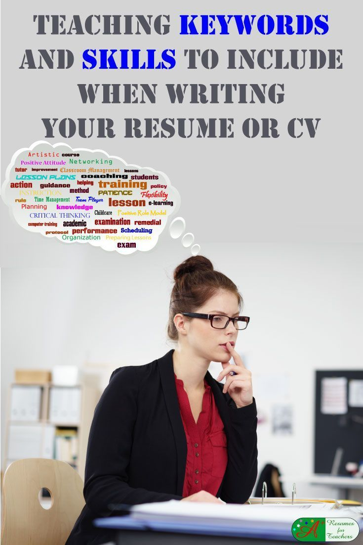 Teaching Keywords and Skills to Include When Writing Your Resume or ...