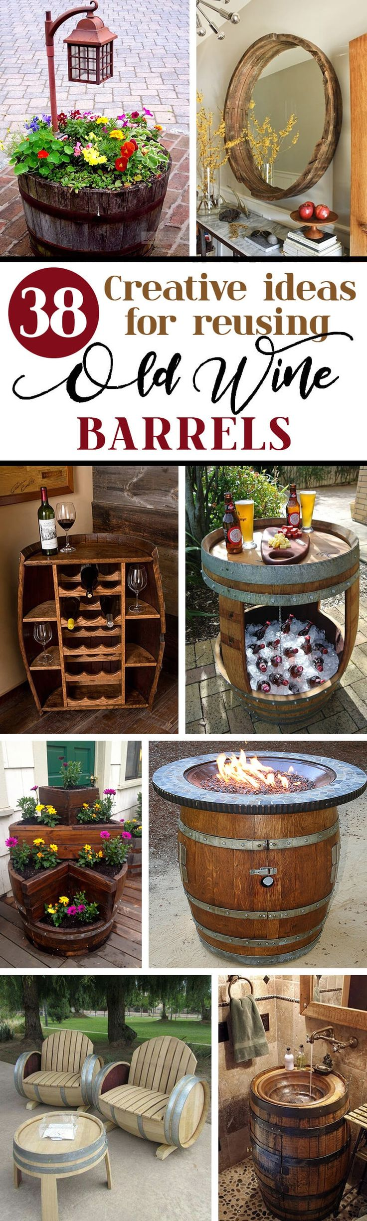 Wine barrels aren't just for old-timey merchant ships and artisanal vineyard retreats; designers and interior trendsetters alike are reusing old wine barrels for a variety of stylish purposes, from tables to planters to ingeniously repurposed bars. The beauty of wine barrels lies in their u...