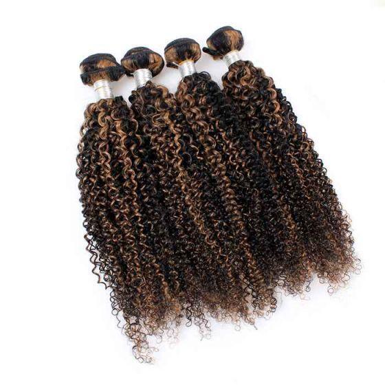 Virgin Brazilian Hair Brazilian piano color kinky curly hair,piano color human hair extensions