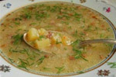 Суп овощной с ячневой крупой