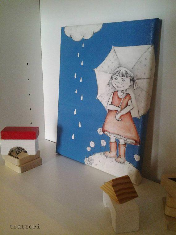dipinto/illustrazione originale Zoe con stivali rossi di trattoPi