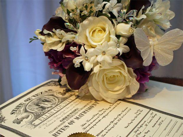 Silk bridal bouquet, wedding bouquets Bouquet by A Bella Vita Weddings and Events in Dallas Dallas wedding WeddingWishes.com