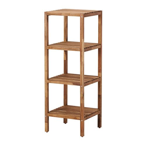 MUSKAN Shelving unit IKEA The open shelves give an easy overview and easy reach. Suitable for use in high humidity areas since it is water-resistant.