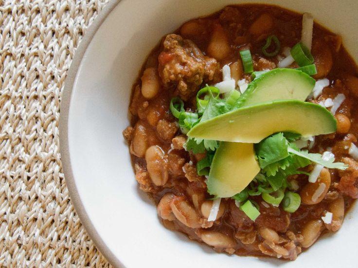 turkey & white bean chili | Soup | Pinterest
