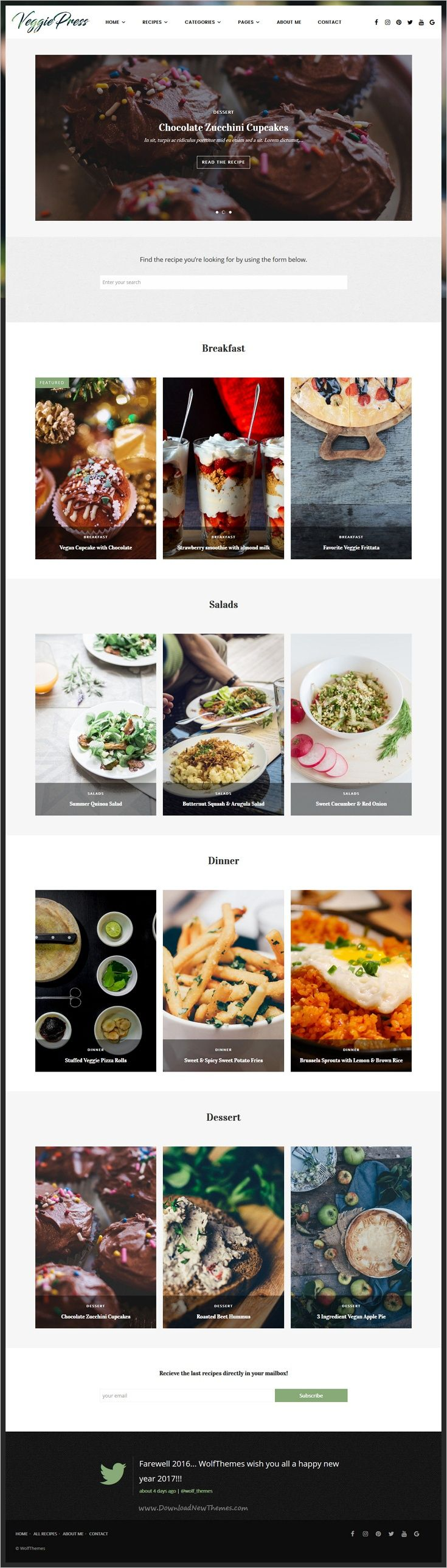 VeggiePress is an elegant responsive #WordPress Theme for #Food and #Recipe #blog with AJAX Navigation and Rating System download now➩ https://themeforest.net/item/veggiepress-food-recipe-wordpress-theme-with-ajax-navigation-and-rating-system/18774143?ref=Datasata