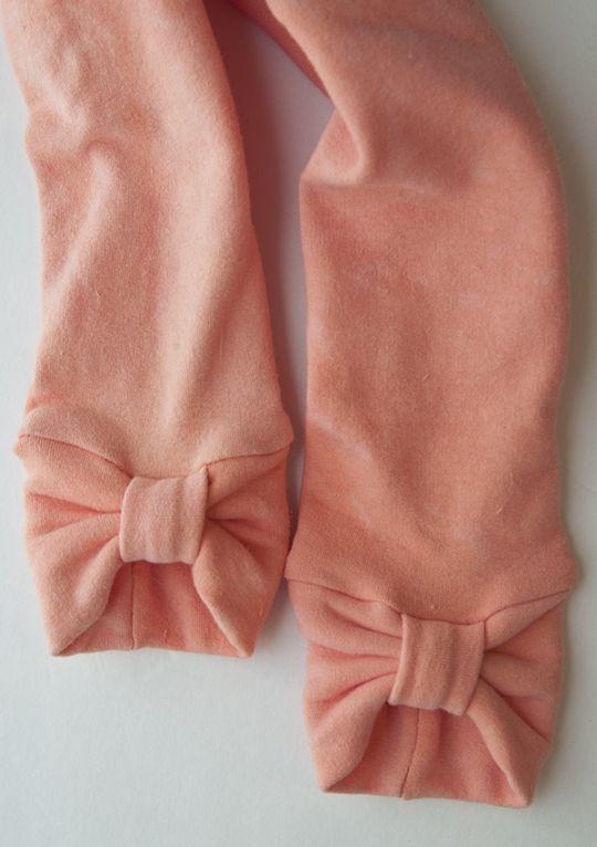 No-Hem Bow Cuff Leggings DIY