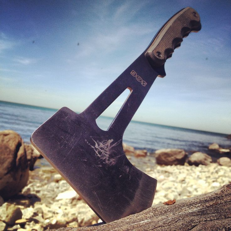 """SOG Knives Hand Axe - Total Length. 11.1"""" Blade Length: 2.4"""" Weight: 18.6oz. Steel Type: 420 Stainless. SOG Adventurer Coyote Peterson"""