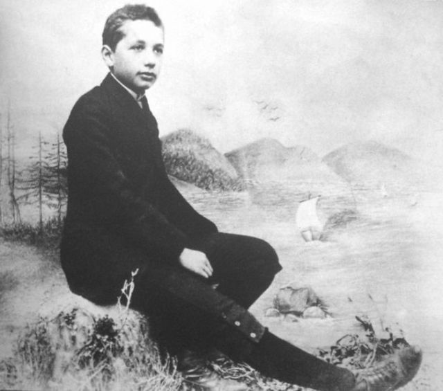 BabaMail -Famous People in Historic Photos!  Albert Einstein as a (problematic) child.