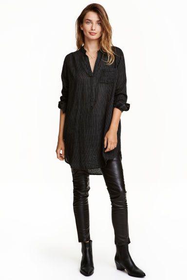 V-neck cotton tunic   H&M