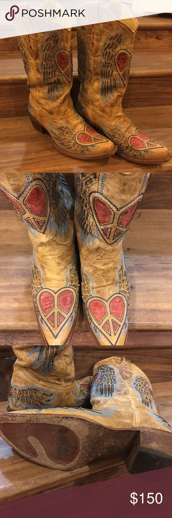 Corral Vintage Boots. Great condition Size 8 1/2M Corral Vintage Boots. Great condition Size 8 1/2M, so much detail on these boots and they are very comfortable. A slight bit of scuff on the toe and heel (normal wear). Ready for a new home. Corral Vintage Shoes Heeled Boots