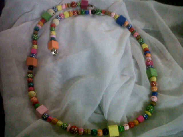 Mixed Colourful Wooden Bead Necklace