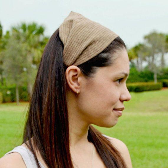 SMALL Headscarf Headband Neutral Brown Hair by SpecificallyRandom, $12.00