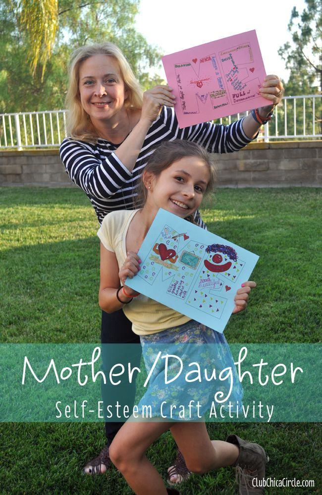 Mother/Daughter #Selfesteem Craft Activity Idea | Tween Craft Ideas for Mom and Daughter #GirlScouts