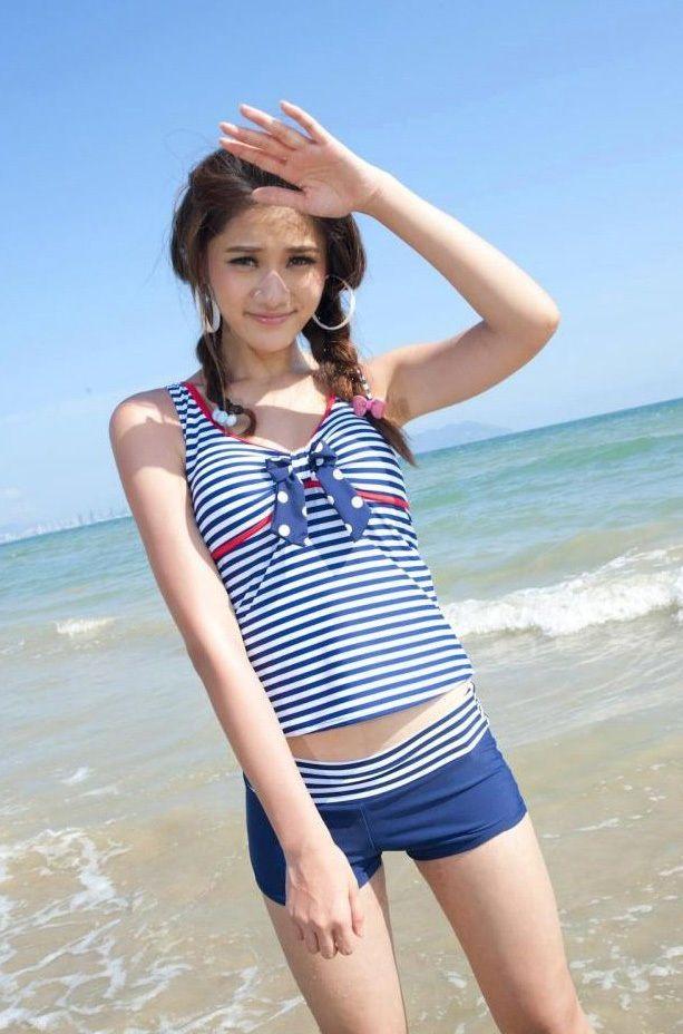 i need this! | Junior plus size swimwear, Plus size swimwear