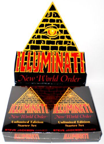 1995 - Illuminati New World Order collectible card game - (INWO Unlimited Edition Starter Set) Factory Sealed (CCG) Two Double Decks 55 cards each INWO rulebook (110 Cards total) By Steve Jackson (Unlimited Edition Original Version 1.1 March 1995) Steve Jackson Games http://www.amazon.com/dp/1556343035/ref=cm_sw_r_pi_dp_tlDjvb0ZP5DKY
