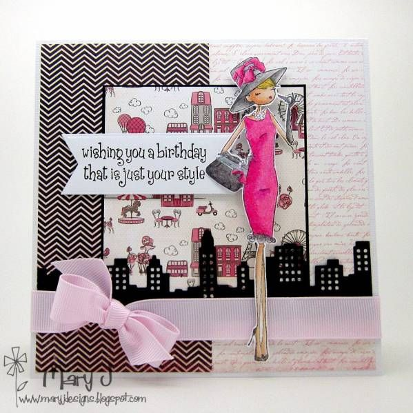 Just your style  Mary Johnson  Stamping Bella   so cute!!