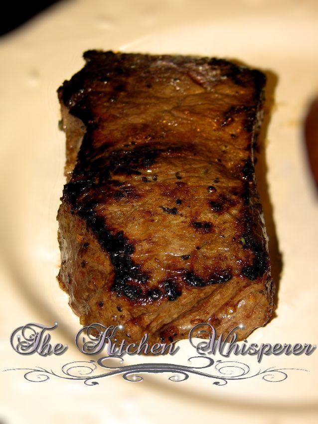 Better than restaurant-quality steak: sear on stove in cast-iron skillet, and finish cooking in the oven