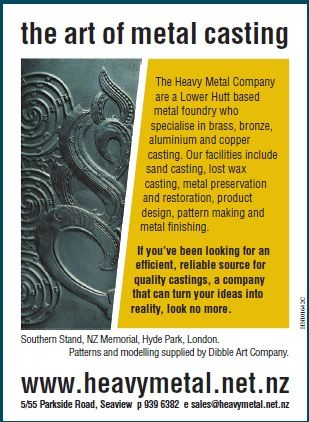 The Art of Metal Casting Advert - Heavy Metal's Graphic Art