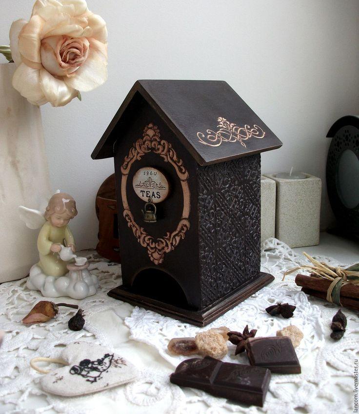 """Купить Чайный домик """"Горький шоколад"""" - коричневый, чайный домик, горький шоколад, шоколад"""