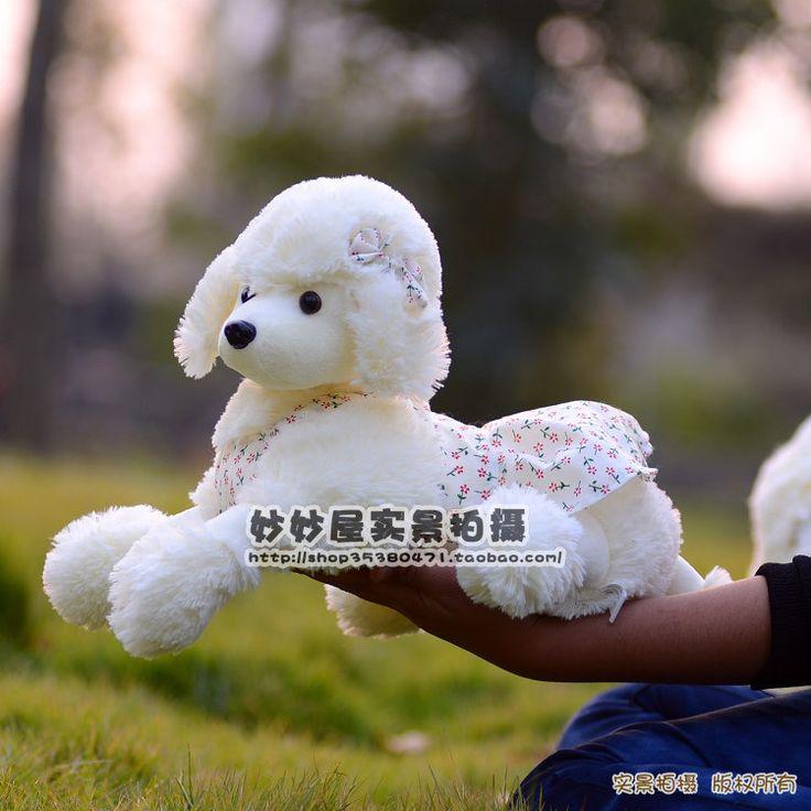 Чучела животных 35 см лежал плюшевый пудель овчарка игрушки красивая юбка пудель кукла большой подарок w1938