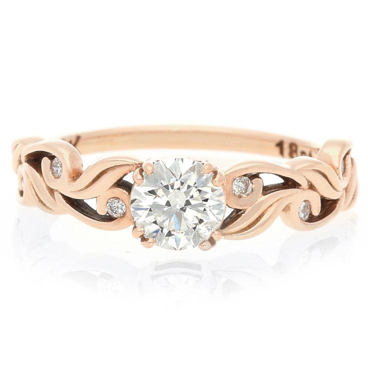 18K Rose Gold Diamond Ring For Sale by Uwe Koetter.    www.uwekoetter.com