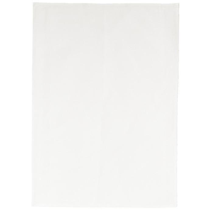 plain off-white tea towel