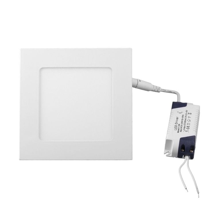 12W 860LM Square 3-light LED Recessed Ceiling Light Lamp