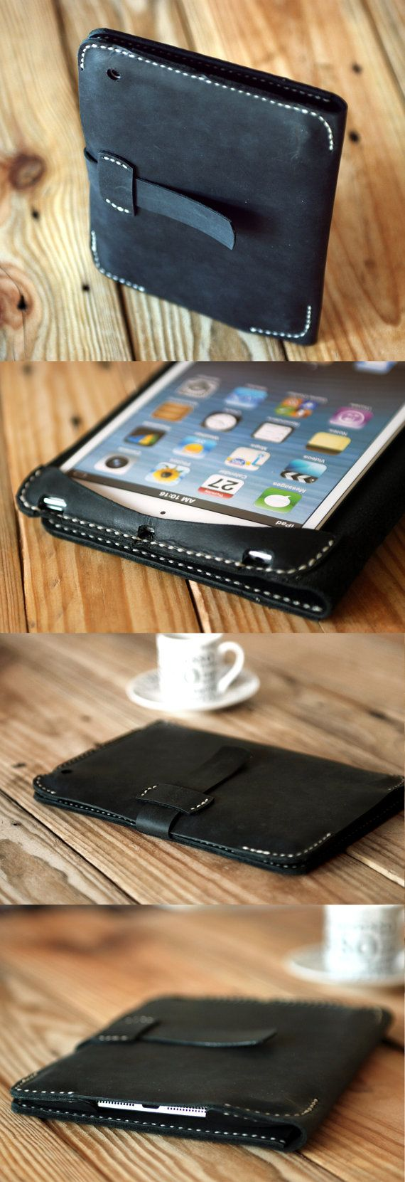Ipad mini leather cover. Ipad mini case. by JustWanderlustShop