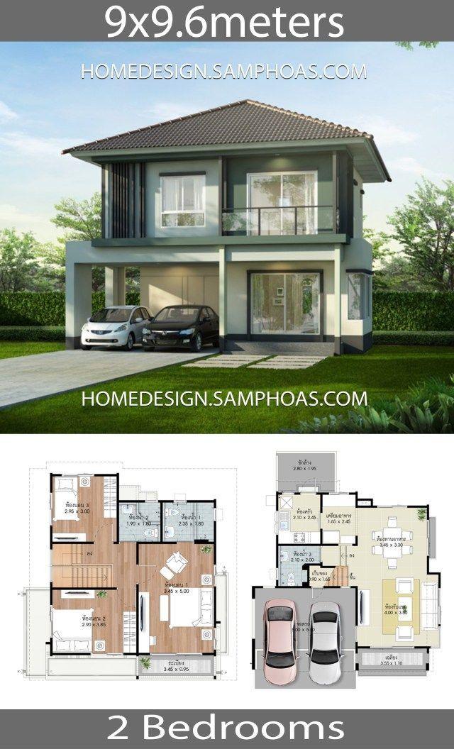 Elegant Modern House Design Plans Beautiful House Design Plans 9x9 6m With 3 Bedrooms Beautiful House Plans Home Design Plans Modern House Design