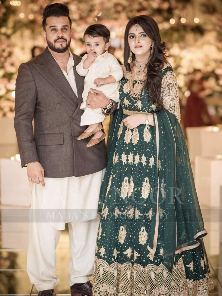 Brides brother and sister in law at the barat pakistani