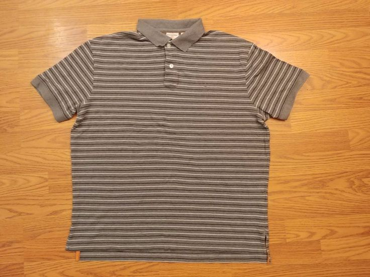 Dockers Men's Polo Shirt Short Sleeve Size XL gray black white  #DOCKERS #PoloRugby