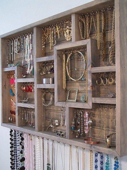 Leuke idee voor opbergen van je sieraden