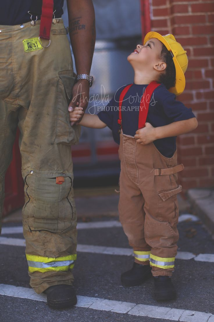 Firefighter and son   www.facebook.com/AngelaCordesPhotography  #firefighter…