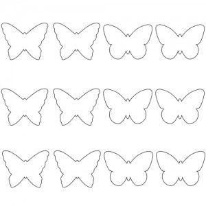 Papillon décoration murale Plus