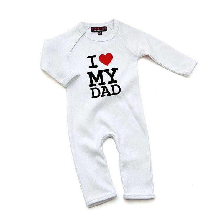 i love my dad babygrow by nappy head | notonthehighstreet.com