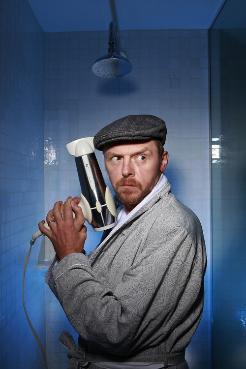 Simon Pegg is one of the funniest people on the planet. Seriously, if you haven't already, check him out on Hot Fuzz, Shaun of the Dead, and the new Star Trek movies.