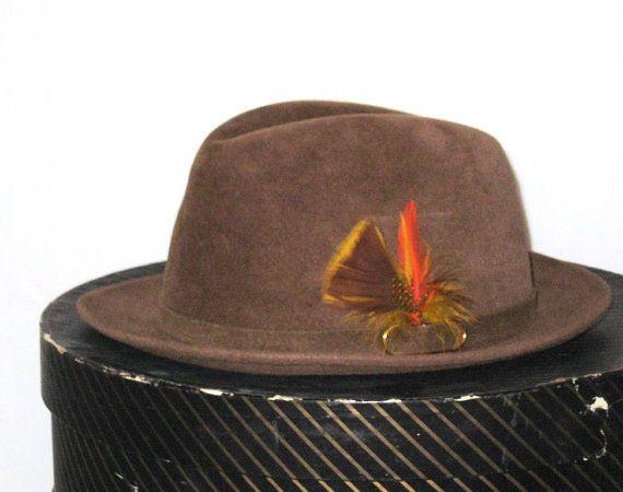 60s Brown Fedora Hat Biltmore Velurin Hat Mens Hat Mens Fur Felt Fedora 1960s Hat Brown Hat Felt Fedora Mens Hat Biltmore Hat Made in Canada