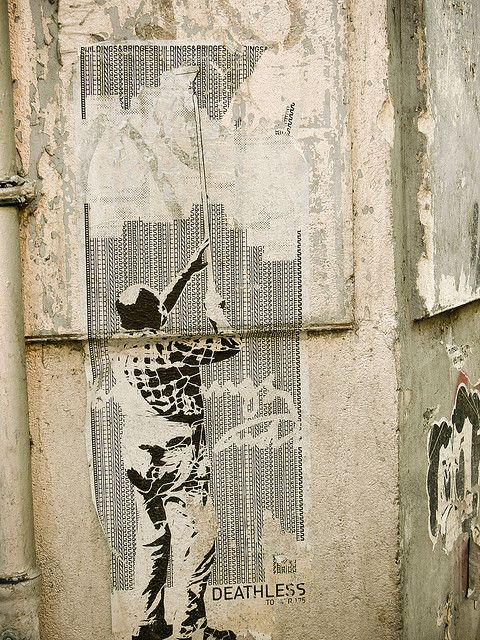 Boxi Poster    Stencil Art by famous street artist Boxi in Berlin.