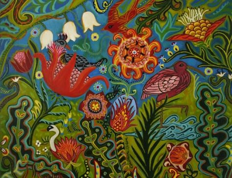 Living In the Moment, painting by artist Catherine Nolin