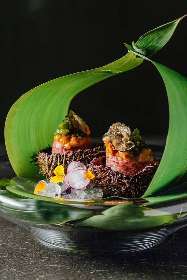 A fantastic sushi recipe from Hideki Hiwatashi showcasing the beautiful flavour of Wagyu. Discover how to make sushi with this striking beef recipe, a luxurious canapé which is bound to impress.