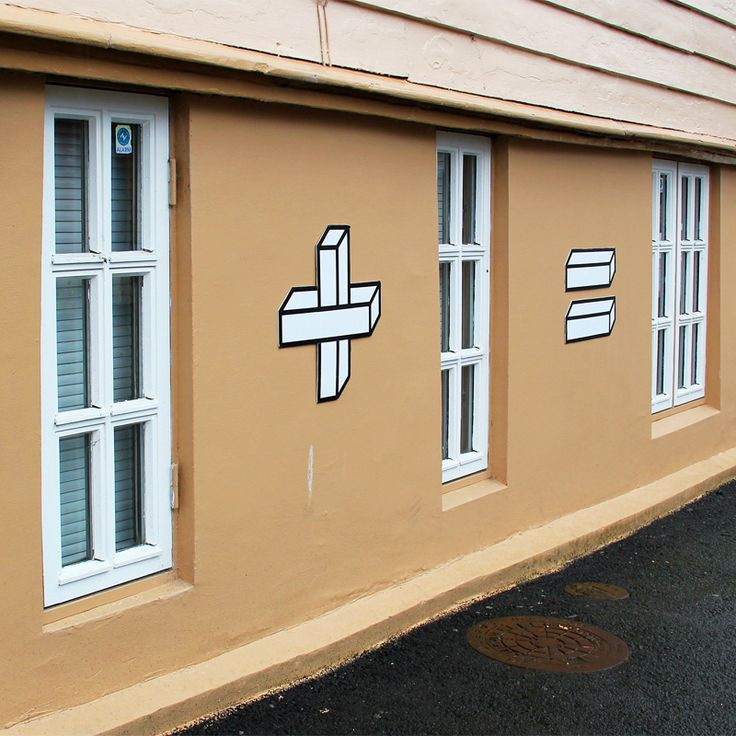 street art by Aakash Nihalani -Sum Times tape, corrugated board (Stavenger) http://restreet.altervista.org/aakash-nihalani-e-i-murales-di-carta-adesiva/