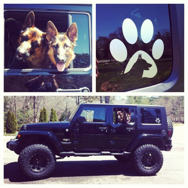 GSD Jeep With A German Shepherd Dog Decal From Http