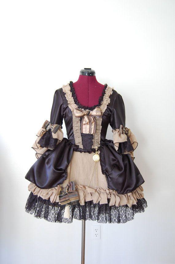 gothic steampunk pirate lolita mini marie antoinette anime
