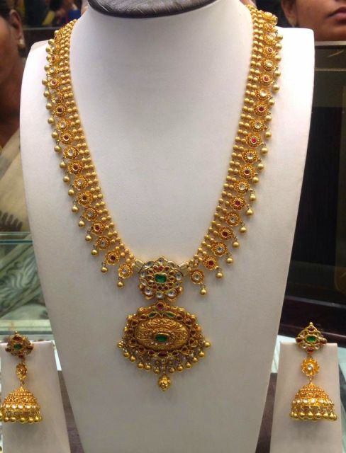 Kundan Haram Gold Jewellery Design Bridal Jewelry