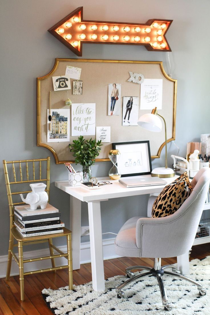 How to Style a Desk  for the Post grad   The Everygirl268 best Decorate your work space images on Pinterest   Office  . Living Room Desk Chair. Home Design Ideas