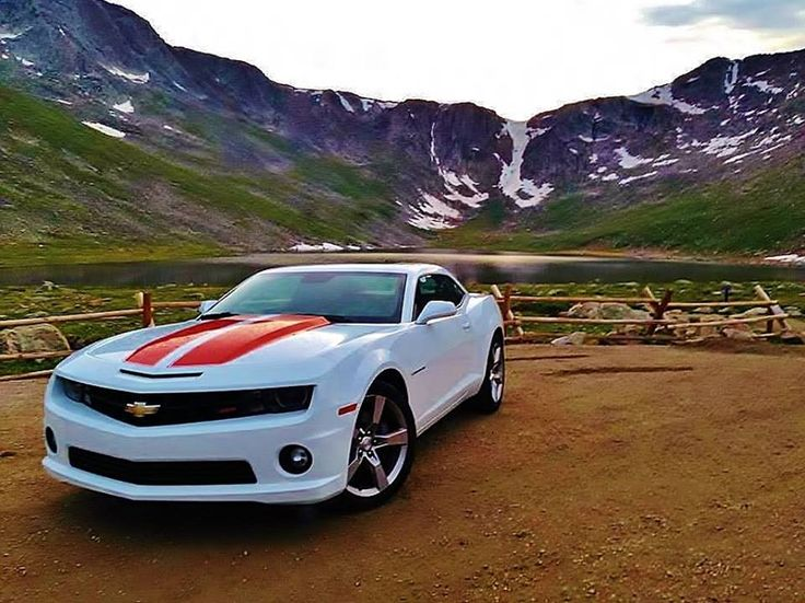 Bucket list get a convertible white camaro with red stripes
