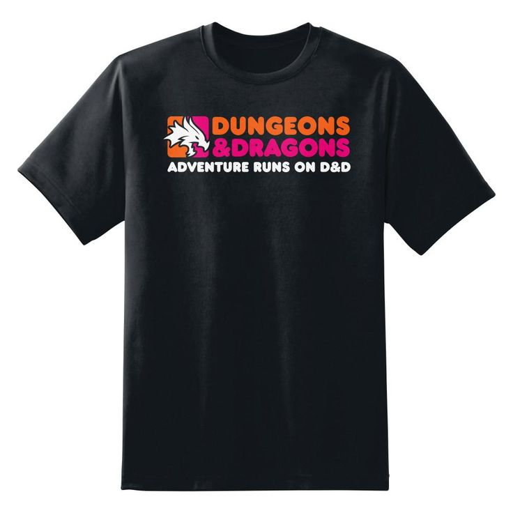 Dunkin' Donuts Dungeons and Dragons Men's Unisex T-Shirt by Sexy Hackers