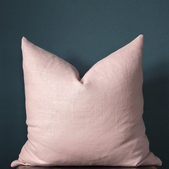 Blush Pink Pillow Cover Rose Quartz Pillow Cover by ThePoshRobin